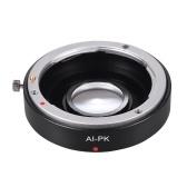 ペンタックスK PK K110D K200D K20D K-3501カメラ用ニコンAI Fレンズ用補正レンズ付きAI-PK光学ガラスレンズマウントアダプタ