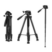 KINGJOY VT-880 2 in 1 beweglicher justierbarer Aluminiumlegierungs-Kamera-Stativ Einbeinstativ 360 ° Panorama-Aufnahme für Canon Nikon Sony Fuji-Video-Camcorder-Action-Kamera GoPro-Held