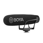 BOYA BY-BM2021 Leichtes Superniere-Video-Shotgun-Mikrofon für Smartphone-DSLR-Kameras Camcorder PC-Audioaufzeichnung