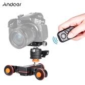 Andoer L4 PRO Моторизованная видеокамера с индикацией шкалы Электрический трек-слайдер Беспроводной пульт дистанционного управления 3-скоростная мини-слайдер с регулируемой скоростью для Canon Nikon Sony DSLR Camera Смартфон + мини гибкий адаптер с шаровой головкой