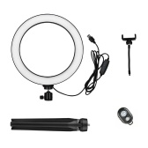 10 Inch LED Ring Light with Tripod Stand Phone Holder Remote Control 3200K-5500K Dimmable Table Camera Light Lamp