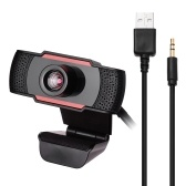1080P 30FPS Web Camera Auto Focus HD Webcam PC Camera Built-in Microphone USB/3.5mm Port for Work Study at Home