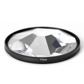 Kamerafilter Fotografie Vordergrund Unschärfe Film Fotografie Requisiten 77mm Glas Kaleidoskop Filter Kamera Zubehör