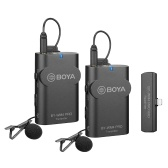 BOYA BY-WM4 PRO-K4 2.4G Wireless Microphone System (Transmitter * 2 + Receiver * 1) 60M Effective Range