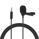 Omni-directional Electret Condenser Lavalier Microphone with 3.5mm TRRS 1.5m Cable