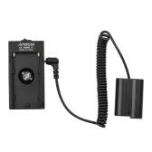 Andoer NP-F970 F750 Battery Plate Holder Adapter + EN-EL15 Dummy Battery Coupler Compatible