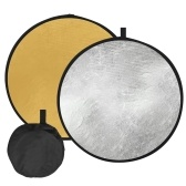 80cm/32Inch Photography Light Reflector 2-in-1(Silver, Gold) Collapsible Portable