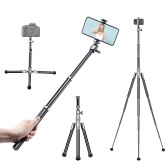 Ulanzi SK-04 Selfie Stick Trépied Stand 145cm 8-Section 3-Level Trépied Angle