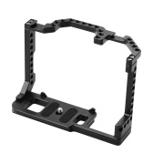 Andoer Camera Cage Aluminum Alloy with Dual Cold Shoe Mount 1/4 Inch Screw