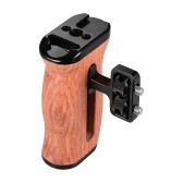Universal Camera Cage Wooden Handle Side Hand Grip
