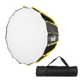 FalconEyes SPB90 90cm/35inch Multi-purpose Deep Parabolic Reflector Softbox Bowens Mount Quick Set-up for Portraits Interviews Filmmaking with Diffuser Cloth Carry Bag