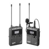 Godox WMicS1 kit1 UHF-Funkmikrofonsystem mit 1 Stück TX1 Portable Body-Pack-Sender + 1 Stück RX1 Portable Receiver