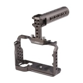 Andoer Camera Cage + Top Handle Grip + Side Handle Grip Set Metal Camera Cage Multifunzionale Top Handle Grip Sostituzione per Sony A7C
