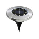 1pcs 8 LED Solar Power In-ground Lamp Buried Light Outdoor Path Way Garden Decking Underground Lamps
