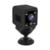 1080P Mini Kamera Video Cam Full HD Camcorder 155° Weitwinkel IR Nachtsicht Bewegungserkennung WiFi Funktion 128GB Speichererweiterung für Baby Pet Home Security Monitoring