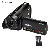 Andoer HDV-V7 1080P Kamera cyfrowa z cyfrową kamerą wideo Full HD Max. 24-megapikselowy zoom cyfrowy 16 × z obsługą wykrywania twarzy z obrotowym ekranem 3,0 cala