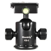Manbily KB-0 Professional Tripod Head Camera Ball Head Panoramic Head Sliding Rail Head with 2 Built-in Spirit Levels Aluminum Alloy Max Load Capacity 15kg