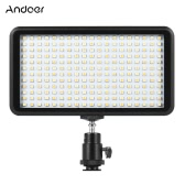 Andoer Ultra-mince 3200K / 6000K Dimmable Studio Video Photographie LED Light Panel Lampe 228pcs Perles pour Canon Nikon DSLR Caméra Caméscope DV