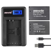 LP-E12 2 Pack 7,4V 1200mAh Lithium-Ionen-Ersatzakku mit LCD-USB-Ladegerät-Kit für Canon EOS 100D/EOS Rebel SL1/EOS-M/EOS-M2