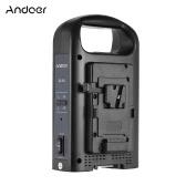 デジタル一眼レフビデオカメラ用のVマウントバッテリー用Andoer AD-2KS 2チャンネルデュアルビデオカメラのバッテリー充電器