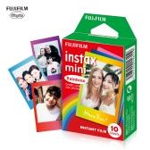Fujifilm Instax Mini 10 hojas de papel de película de arco iris de colores