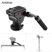 Andoer Video-Kamera-Stativ Funktionsweise Medium Drag Pan Kopf Hydraulische Panorama-Fotokopf für Canon Nikon Sony DSLR-Kamera Camcorder Shooting Filmen