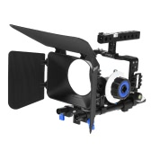 Andoer Professional Video Cage Rig Kit Film Making System w / 15mm Rod folgen Focus FF Matte Box für Sony A6000 A6300 A6500 ILDC Spiegellose Kamera Camcorder
