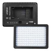 Andoer 160 LEDビデオカメラライトランプ10.5W Dimmable 5600K 2200mAh F550バッテリー/充電器/ 3フィルター/アダプター/キャノンニコン用パッド入りソニーDSLRスタジオ写真人物ポートレート照明