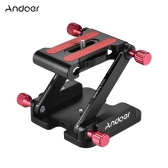 Andoer Aluminum Alloy Folding Quick Release Plate Camera Ball Head