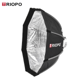 TRIOPO 65cm pliable Octagon 8-Soft Softbox avec sac de transport de tissu doux Bowens Mount pour Studio Strobe Flash Light