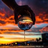 Boule de cristal transparent Décoration de la maison Solide Photographie Verre Différents Angle du Monde 60mm