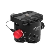 Andoer DH-50 Cabeça de Bola Panorâmica Indexação Tripé Rotador Cabeça Liga de Alumínio Carga 22Lbs para Canon Nikon Sony DSLR Camera
