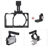 ソニーA6000 A6300 A6500 NEX7のためのケーブルクランプとAndoer保護アルミニウム合金ビデオカメラケージスタビライザープロテクターマイクをマウントするILDCモニター三脚照明アクセサリー
