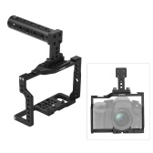"Andoer G85 Aluminum Alloy Camera Cage with Many 1/4"" and 3/8"" Mounting Holes 2 Cold Shoe Socket for Panasonic G85/G80 ILDC Camera to Mount Microphone Monitor Video Light Tripod"