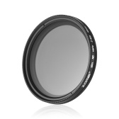 ZOMEI 49mm Ultra Slim Variabler Fader ND2-400 Neutral Density ND Filter Einstellbar ND2 ND4 ND8 ND16 ND32 bis ND400 für Sony NEX 18-55mm Objektiv