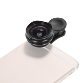 25mm Caliber 5K HD Super Wide Angle Lens with 15X Macro 2 in 1 Set No Distortion for Mobile Phone