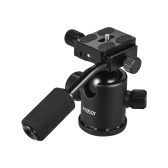 Andoer Handle Tripod Ball Head 360 Degree Rotating Panoramic Ballhead  with 1/4inch Srew 3/8inch Screw Hole for DSLR Camera Max. 15kg Load