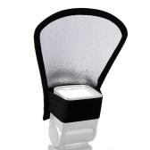 Diffuseur de flash repliable avec réflecteur Snoot Softbox Speedlight argent / blanc pour panneau plieur reflex numérique