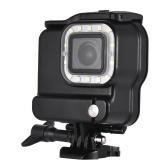 2-in-1 Action Camera Boîtier étanche + LED Plongée Lumière 14pcs LEDs 3 modes d'éclairage 300LM sous l'eau 30m avec batterie rechargeable pour GoPro Hero 6 5 caméras de sport