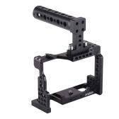 Cámara de Andoer + Kit de manija superior Video Película Película Fabricación Estabilizador de aleación de aluminio con zapata fría para cámara Sony A7II / A7III / A7SII / A7M3 / A7RII / A7RIII