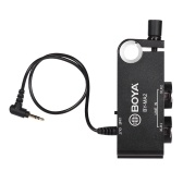 BOYA BY-MA2 Dual Channel XLR to 3.5mm Audio Mixer Adapter for DSLR Camera Camcorder DV