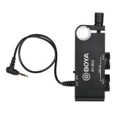 Adaptador de mezclador de audio de dos canales XLR a 3.5 mm BOYA BY-MA2 para cámara de video DSLR DV