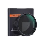 K & F CONCEPT Filtre ND Fader ND2-ND32 de 72 à densité variable ultra-mince et ajustable pour objectif de caméra, pour appareils photo Canon Sony Nikon