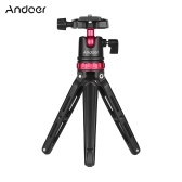 Andoer Aluminium Alloy Mini Desktop Tabletop Tripod with Panoramic Ball Head Ballhead Quick Release Plate Bubble Level 1/4 Inch Screw Canon Nikon Sony DSLR DV Cameras   Camcorders for GoPro Hero 6/5/4/3+ for Yi Lite 4K for iPhone X 8 7 6s Plus Smartphone Max. Load Capacity 5kg / 11Lbs