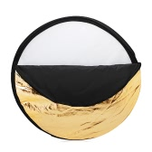 """Andoer 24"""" 60cm Disc 5 in 1 (Gold, Silver, White, Black, Translucent) Multi Portable Collapsible Photography Studio Photo Light Reflector"""