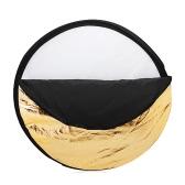 """Andoer 24"""" 60cm Disc 5 in 1 Multi-Portable (Gold, Silber, weiß, schwarz, transluzent) zusammenklappbar Fotografie Studio Photo Light Reflektor"""