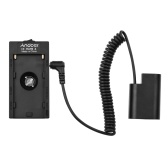 Andoer NP-F970 F750 Battery Plate Holder Adapter with Dual USB Interface + DMW-DCC8 Dummy Battery Coupler