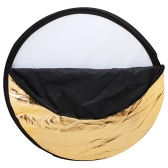 "Andoer 43"" 110cm Disc 5 in 1 (Gold, Silver, White, Black, Translucent) Multi Portable Collapsible Photography Studio Photo Light Reflector"
