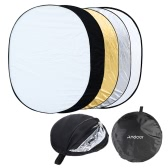"""Andoer 35 """"* 47"""" / 90 * 120cm Oval 5 en 1 (oro, plata, blanco, negro, transparente) Multi Portable plegable estudio foto fotografía Reflector de luz"""