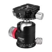 Andoer H-34 Double Panoramic Head CNC Machining Aluminum Alloy Ball Head